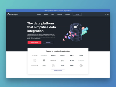 Marklogic Homepage Redesign redesigned redesign revamp web design agency web page website web design landing page homepage marketing website animation illustration ux interface ramotion ui ux ui user interface user experience design