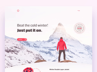 Winter Clothes Marketing Website Concept clothing website concept web design company web design agency homepage webdesign website winter sports landing page red clothes winter ux interface ui ux ui user interface user experience design ramotion