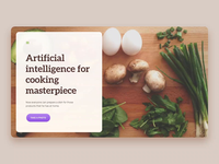 AI for a better cooking experience web development agency web app web design agency website design process cooking artificial intelligence ai web design ux interface application app ui ux ui user interface user experience ramotion