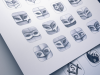 iOS 7 App Icon Sketching