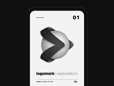 Camino Draft Shapes visual exploration product internal music universal company design identity brand branding logotype logomark logo ux ui