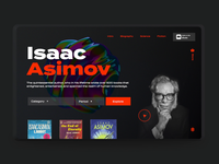 Ramotion Labs: Isaac Asimov Website Concept agency company ramotion experience interface user ux abstract cover book concept website page landing ui design web