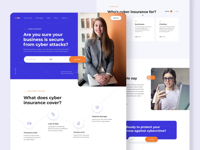 Cybersecurity Website UI Choreography page layout parallax scrolling landing page blue website motion ui corporate website homepage web layout web ui design loop animation web app web ui ui design cybersecurity ux ui