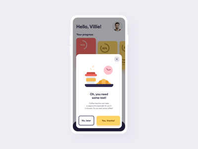 Corporate Wellness Services App UI Choreography iphone animation corporate welness experience user application mobile interface ux app ui design ramotion