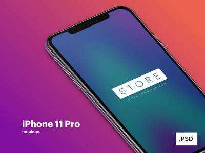 iPhone 11 Pro Mockup ui psd iphone x smartphone iphone 11 pro download freebie free mock-up mockup screen phone device iphone