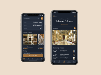 Museum Ticket App Concept experience interface user ux company application ios ui device phone mock-up mockup iphone aggregator ticket museum concept design app mobile