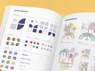 OpenColony Illustration System typogaphy guide firm company brand identity styleguide style illustration identity visual design branding