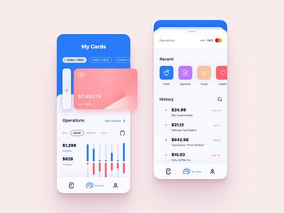 Banking App UI Design credit cards app concept app design ux app screen application design app clean ui app layout flat ui colors mobile ui design ui mobile app ui ui design mobile app design