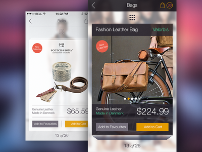 Iphone app design ramotion interface online store