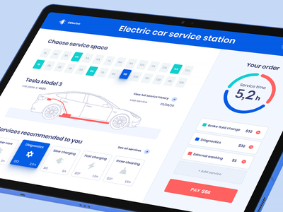 Electric Car Service Dashboard tesla electric car icons vector illustration car vector web dashboard flat dashboard modern dashboard app dashboard dashboard layout ux app screen user dashboard application design dashboard design web ui dashboard ui dashboard ui ui design