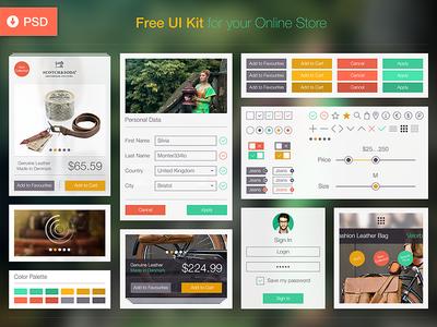 Free UI Kit | UX, PSD, iOS 8