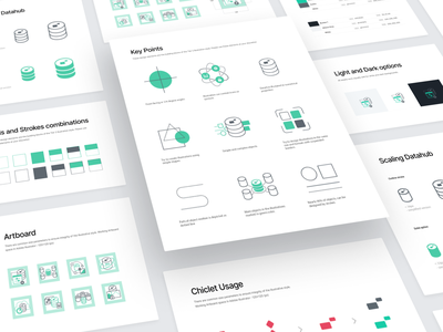 Marklogic Illustration Set brand identity branding style guide icon set ui design white background application icon marketing icon logo designer green logo visual identity icon design cool icons icons ui style guide logotype illustration vector illustration app icon flat illustration