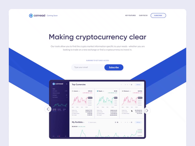 Coinread landing page