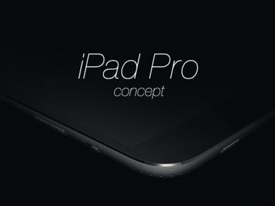 iPad Pro Design Concept ipad pro design concept ui ux product render screen 3d apple camera