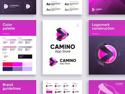 Camino Visual Identity visual identity app logo digital logo ui style guide logotype gradient logo creative logo app icon logo presentation logo