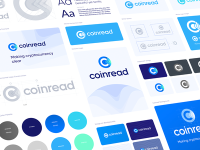 Coinread Style Guide colors wordmark logotypes icons logotype brand design visual identity branding style guide