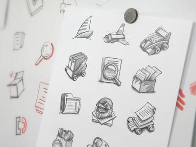 Mac App Icon Sketching