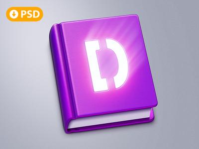 Free Book MacOS App Icon [PSD]