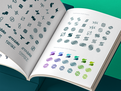 Stable Draft Shapes style guide visual identity brand identity ramotion design icon vector icons branding logo