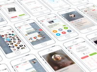Chat iPhone App | UX, UI, iOS 8