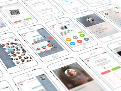Chat Application – App Development Agency iphone user interface user experience design appstore messages social mobile material design product social network application
