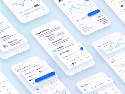 Coinread Mobile User Interface user experience cruptocurrency dashboard design app dashboard mobile dashboard mobile app ui design user interface app design ux ui