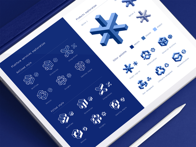 Okta Icons System icon style guide visual identity design system logo icons branding design iconography