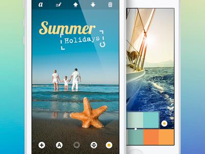 Photo Editing App | UX, UI, iOS