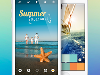 Photo Editing App | UX, UI, iOS interface design photo summer clean icons iphone editor user experience mobile user interface pictograms