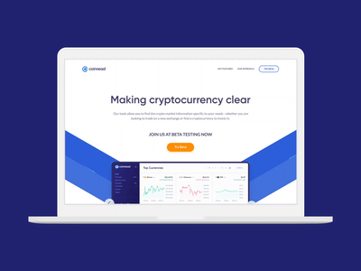 Coinread Adaptive Web Design user experience user interface homepage web page cryptocurrency landing page website maketing website adaptive web design web design ux ui
