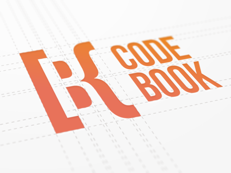 CodeBook Branding - Logo courses tutorials logotype ebook style guide negative shape space product logo design typography guidelines book type logomark development university lettering symbol sign mark brand identity branding code school academy typeface font