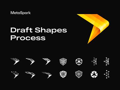 Metaspark Draft Shapes Process branding company design process icon brand logotype logo design iconography visual identity brand identity branding logo icons