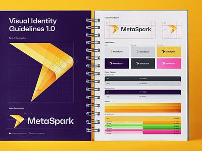 MetaSpark Visual Identity Guidelines brand identity color scheme color palette style guide logo fire logo grid colors logotype logo design brand visual identity branding