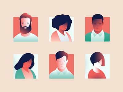 EMI Health Animated Avatars character avatars healthcare web design illustration ui design ui