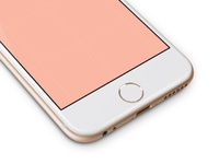 Iphone 6 template gold ramotion