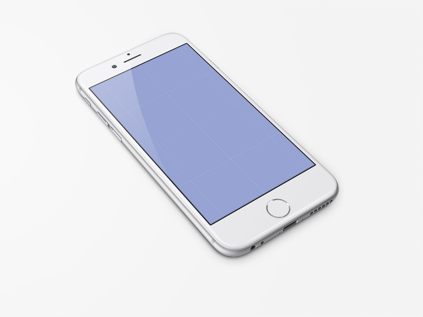 Iphone 6 template white ramotion