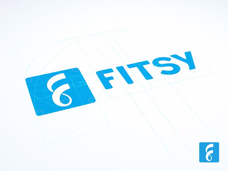 Fitsy logo design ramotion logotype