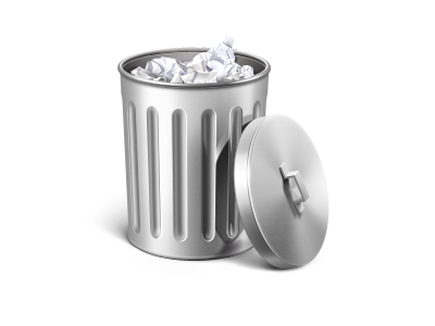 Trash icon icon icons ramotion trash macos mac app handle full silver rubbish highlights reflect texture bin metal paper cover monochrome appstore