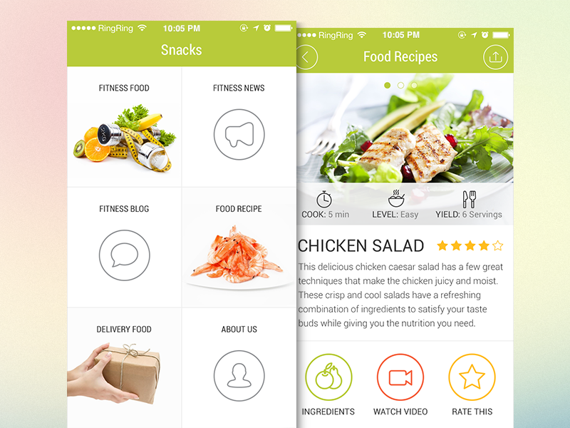 Food delivery app design by ramotion dribbble forumfinder Image collections