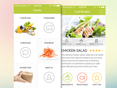 Food delivery app design by ramotion dribbble food delivery app design forumfinder Gallery