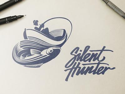 Silent Hunter Logo Design - Branding