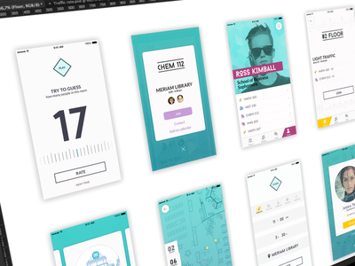 Social App Design Process android gamification working process students university ios material design iphone 6 application flow user experience mobile app navigation ux ui interaction education social network user interface
