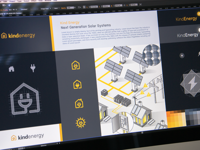 Logo and Visual Style brand developement guide ramotion color combinations font selection energy brandbook alternative power renewable energies electricity branding visual style logo design