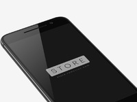 1 htc one a9 mockup template perspective view left carbon grey psd