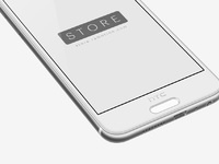 3 htc one a9 mockup template perspective view left opal silver psd