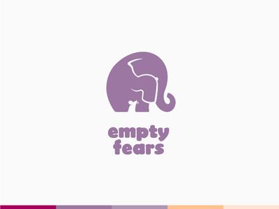 Logo Concept for Children's Psychological Care childrens cencter psychological care mouse elephant negative shape brandbook brand style branding identity logo concept