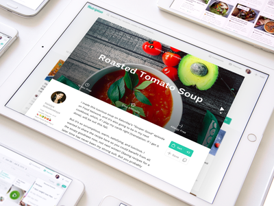 Healthy Food Web Recipes healthcare eco cooking responsive application simple navigation clean interface meal plans free recipes web design ux ui vegan nutrition healthy food