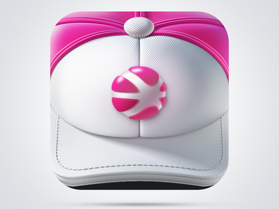 App Icon Dribbble iPhone app icon ramotion logo application ios identity stitching ball dribbble texture appstore cloth white mobile red design headwear clothing baseball hat