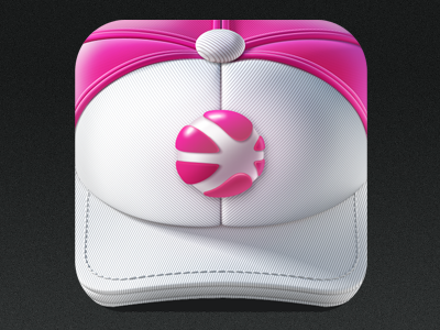 App Icon Dribbble iPhone app icon ramotion logo application ios identity stitching ball dribbble texture appstore cloth white mobile red design headwear clothing baseball hat cotton interface macos mac android fitness store sport cap basketball wear ux ui team