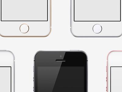 iPhone SE Mockup ui ramotion download freebie free psd mock-up mockup phone iphone iphone se